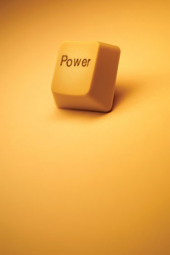 Power key from computer keyboard : Stock Photo
