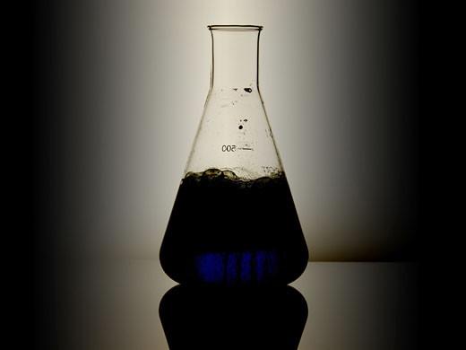 Measuring beaker : Stock Photo
