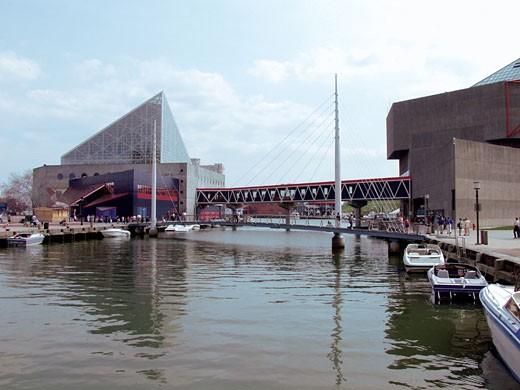 Boats docked at a harbor : Stock Photo