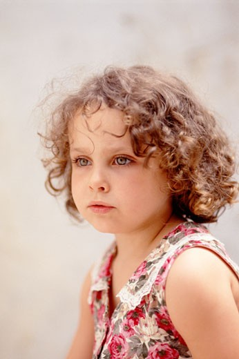 Girl (2-4), close-up : Stock Photo