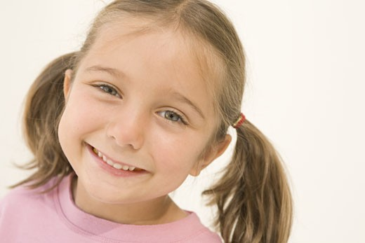 Stock Photo: 1598R-225051 Girl (4-6) smiling, close-up, portrait