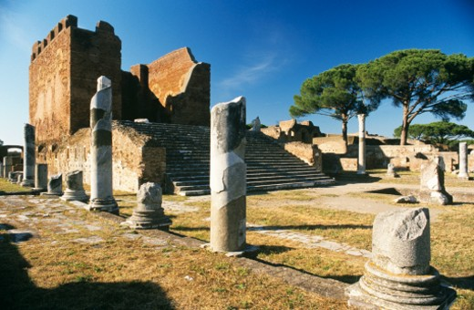 Italy, Lazio, Rome, Roman Forum, Ostia Antica : Stock Photo