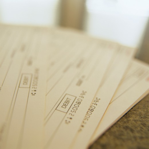 Stock Photo: 1598R-227035 Debit Forms