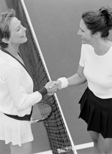 Stock Photo: 1598R-227276 Tennis Players Shaking Hands at the Net