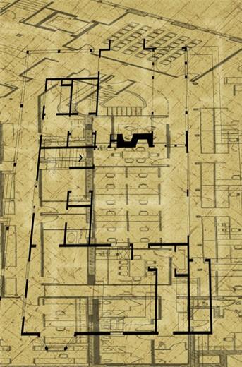 Stock Photo: 1598R-229644 Superimposed Blueprints