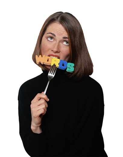 Stock Photo: 1598R-231096 Eat Those Words