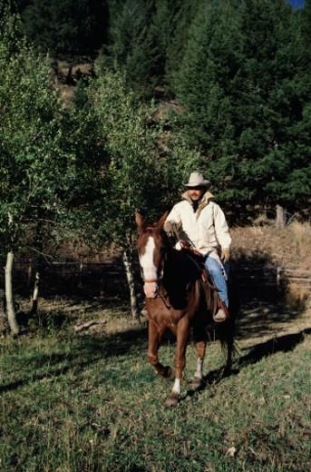 Stock Photo: 1598R-232519 Man on Horseback