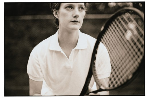 Woman Playing Tennis : Stock Photo