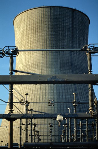 Stock Photo: 1598R-233221 Nuclear Power Plant