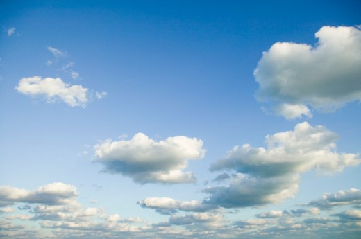 Blue sky with clouds : Stock Photo
