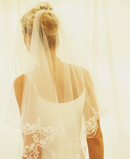 Stock Photo: 1598R-23978 Bride, rear view