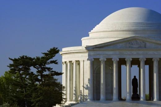 USA, Washington DC, Jefferson Memorial, partial view : Stock Photo