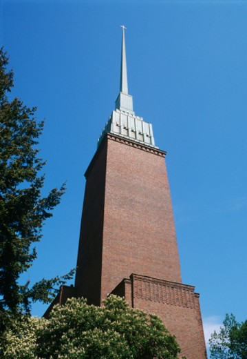 Stock Photo: 1598R-240966 Finland, Helsinki, Protestant church, low angle view
