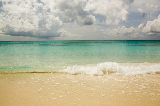 Beautiful beach areas of Grace Bay in Provodenciales, Turks and Caicos : Stock Photo