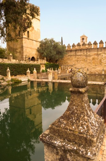 Spain, Andalusia, Cordoba, castle gardens : Stock Photo