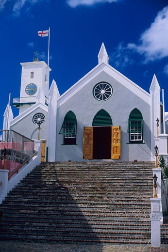 Bermuda, St. George's, St. Peter's Church : Stock Photo