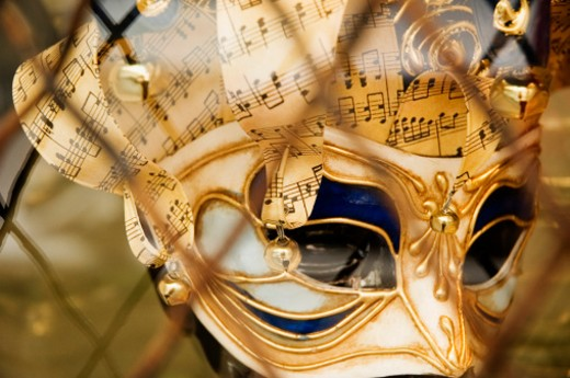 Stock Photo: 1598R-244748 Mardi Gras mask, close-up