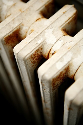 Stock Photo: 1598R-248301 Old radiator.