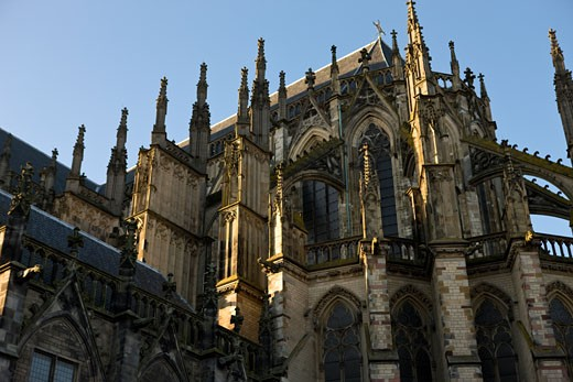 early evening view of the 'Dom', the cathedral in Utrecht, the Netherlands : Stock Photo