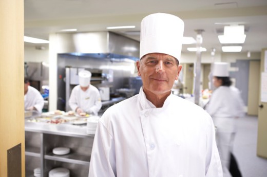 Stock Photo: 1598R-248945 Chef in kitchen, portrait