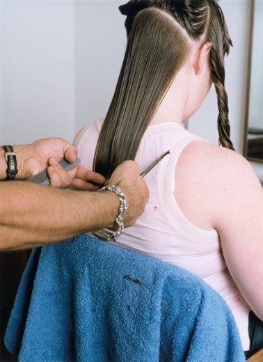 Stock Photo: 1598R-250190 Woman at Hairdressers