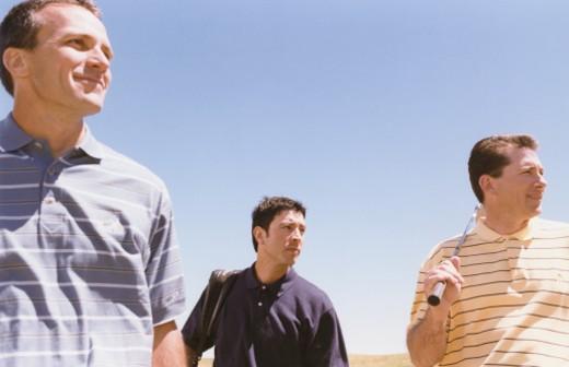 Three Golfers : Stock Photo