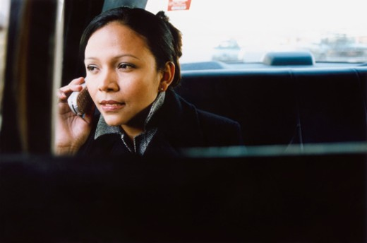 Woman Using Cellular Phone : Stock Photo