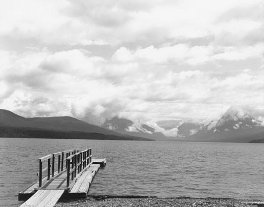 Stock Photo: 1598R-254271 Deck on Lake