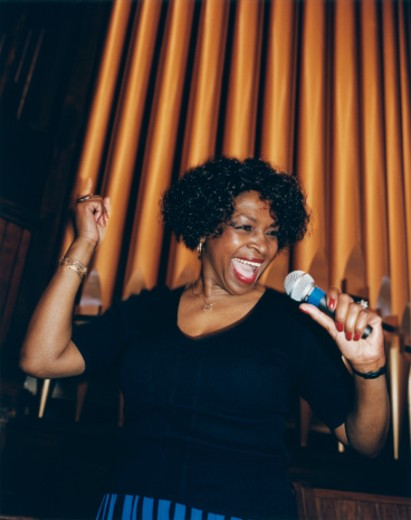 Stock Photo: 1598R-254767 African American Jazz Singer