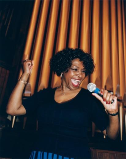 African American Jazz Singer : Stock Photo