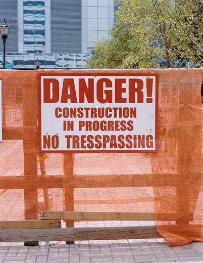Stock Photo: 1598R-254921 Danger Sign