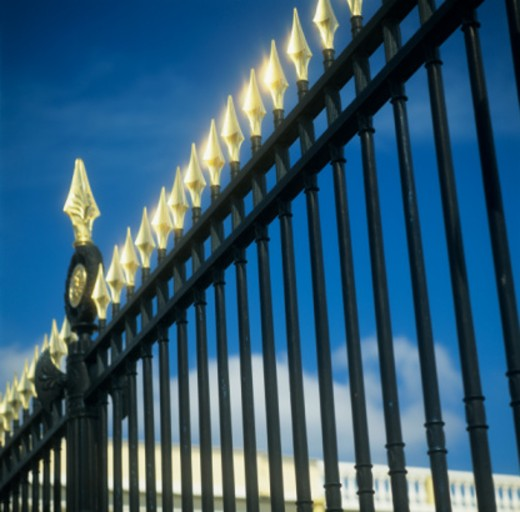 Stock Photo: 1598R-260383 Neo-classical Iron Fence at museum
