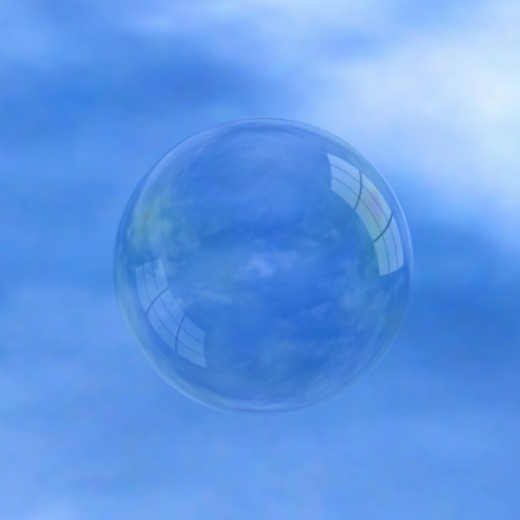 Stock Photo: 1598R-261477 Bubble against blue sky (Digital)