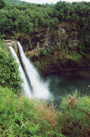 USA, Hawaii, Kauai, Wailua Falls : Stock Photo