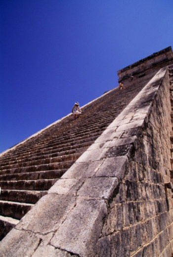 Stock Photo: 1598R-263022 El Castillo is Spanish for Mayan Kukulkan's Pyramid