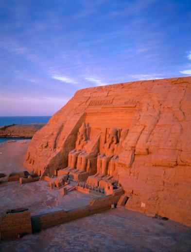 Egypt, Nubia, Abu Simbel, Great Temple of Rameses II : Stock Photo