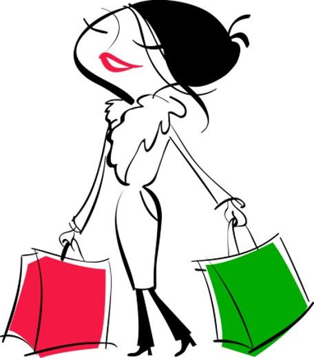 Stock Photo: 1598R-266029 Woman carrying shopping bags