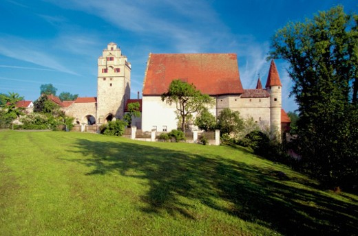 Castle on the Romantic Route, Dinkelsbuhl, Germany : Stock Photo