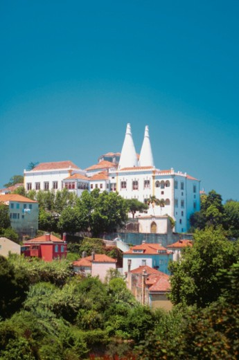Stock Photo: 1598R-267161 Low angle view of the Royal Palace, Sintra, Portugal