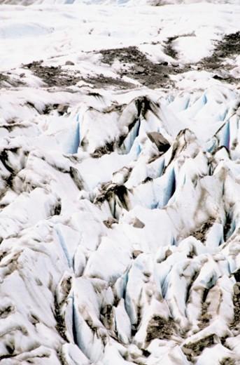 Close-up of Mendenhall Glacier, Tongass National Forest, Alaska, USA : Stock Photo