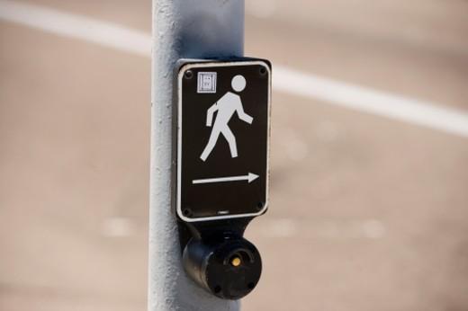 Stock Photo: 1598R-267951 Close-up of a cross walk sign, San Diego, California, USA