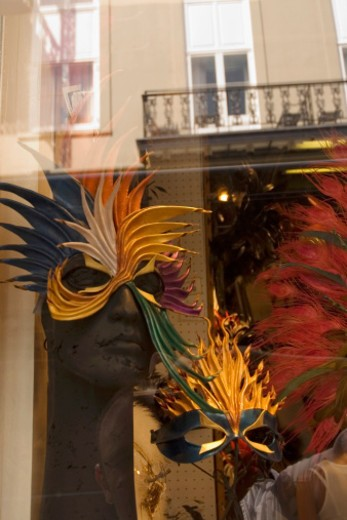 Stock Photo: 1598R-268310 Mardi Gras masks