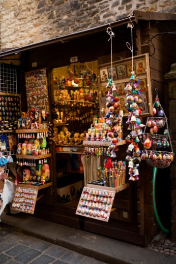 Good at a crafts shop, Prague, Czech Republic : Stock Photo