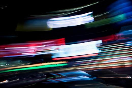 Multicolored neon lights : Stock Photo