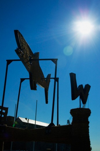 Stock Photo: 1598R-273845 Low angle view of a weather vane, Boston, Massachusetts, USA