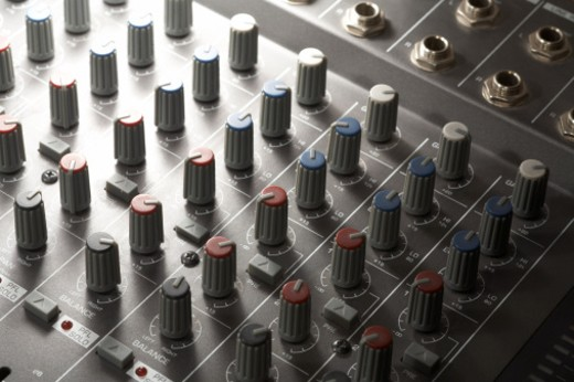 detail of a studio mixer  Studio-shot in 74635 Kupferzell (Germany) with EOS 5D : Stock Photo