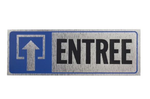 Stock Photo: 1598R-278957 Entrance Sign in French