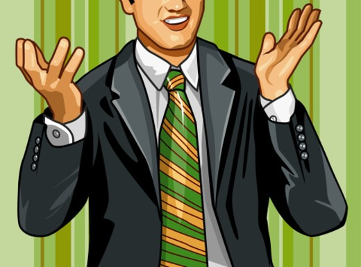 Stock Photo: 1598R-27900 Businessman gesturing with hands, mid section