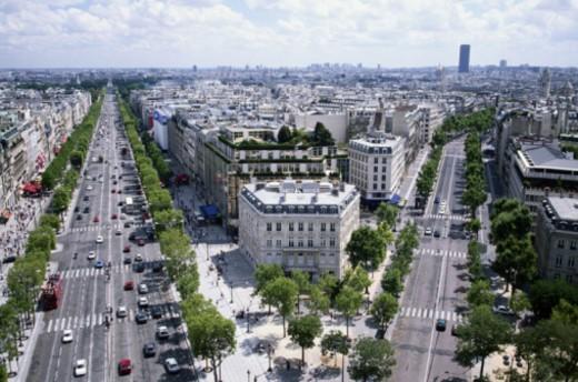 Stock Photo: 1598R-279067 Avenue Des Champs-Elysees