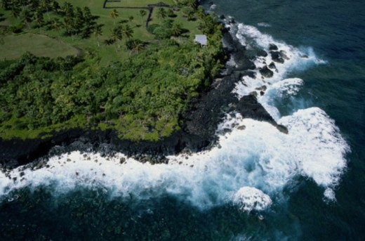 Stock Photo: 1598R-280310 Coastline, Maui
